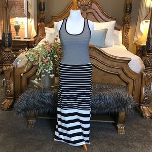 Seven for All Mankind Striped Maxi Dress Size Lg